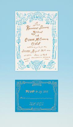 danielle kroll custom wedding invitation invitation design invitation paper stationery design