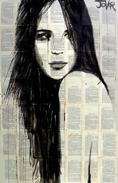 'sweet jane', original figurative drawing by artist Loui Jover | see more at: http://www.saatchiart.com/art-collection/Painting-Collage-Drawing/Originals-for-2000-and-Under/153961/99924/view