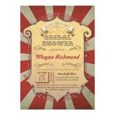 "carnival bridal shower invitations 5"" x 7"" invitation card"