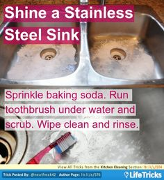 Kitchen Cleaning Hacks Tricks And Tips On Pinterest