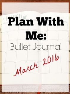 Plan with me {Bullet journal} - March