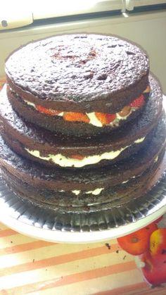 Preparação do Naked cake