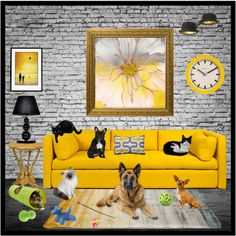 Pet Sitting by cindy-for-fashion on Polyvore featuring interior, interiors, interior design, casa, home decor, interior decorating, Universal Lighting and Decor, Innermost, Linie Design and Newgate