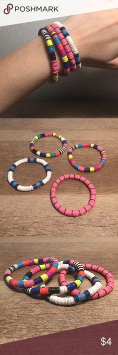 Neon Bracelets 4 Neon Sequin Bracelets!  Bundle to save! Charlotte Russe Jewelry Bracelets