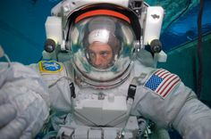Walking a mile in a real NASA astronaut's underwater shoes