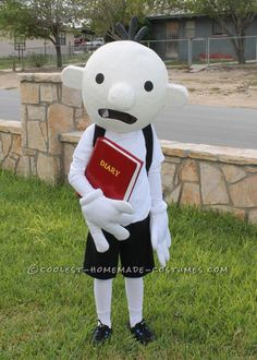 Halloween 2012 Coolest Homemade Costume Contest Runner-Up. Diary of a Wimpy Kid costume submitted by Candice from Texas...
