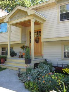 Outside of House on Pinterest | Split Foyer, Split Level Remodel ...
