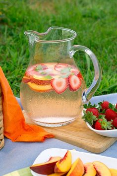 Fruit Infused Sparkling Water - this has been my favorite drink of the summer…
