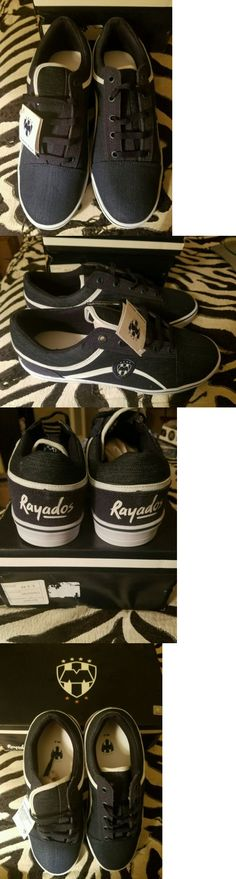 Other Soccer Clothing and Accs 159179: Rayados Monterrey Sneakers Men Official Product Blue Denim Size 8 Usa 6 Mex BUY IT NOW ONLY: $52.0