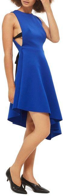 Topshop Lace-Up Back Asymmetrical Dress