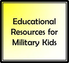 Free online resources for military kids including how to get a free tutor, online homework help, free games which help kids learn perform better in school.