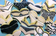 Hand Decorated Bra/Panty set Sugar Cookies for by 3CSC on Etsy