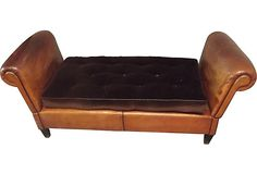 French Leather Daybed on OneKingsLane.com