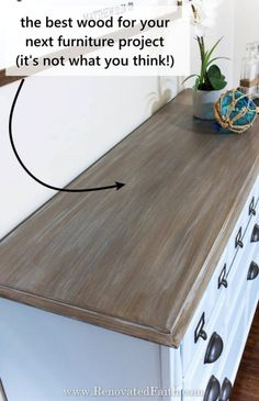 Want to find the best wood for furniture projects that is not only beautiful, and durable, but also low-cost? Here I'll explain the different types of wood for dining tables & heavy-use furniture. Also, I share how to save so much money on your next woodworking project whether you need wood for a farmhouse tabletop or something more contemporary. Whether buying from a furniture store or building it yourself, consider the best wood finish for a dining table before you make a big investment Best Wood For Furniture, Furniture Projects, Oak Table, Dining Tables, Farmhouse Tabletop, Hickory Wood, Different Types Of Wood, Raw Wood, Red Oak