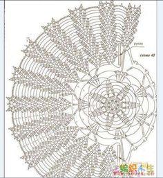 Яндекс.Фотки Crochet Doily Diagram, Crochet Doily Patterns, Crochet Chart, Crochet Motif, Crochet Doilies, Crochet Lace, Crochet Stitches, Crochet Books, Crochet Accessories