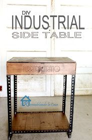 Remodelando la Casa: DIY Industrial Side Table