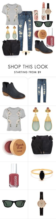 """""""sabado"""" by catalinadlpilar on Polyvore featuring moda, Charles by Charles David, Hollister Co., Topshop, Carousel Jewels, Caudalíe, Accessorize, Essie, Bing Bang y Ray-Ban"""