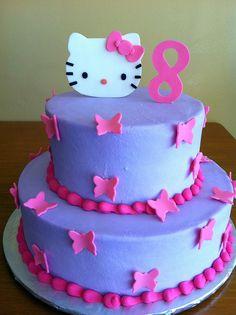 hello-kitty-butterflies by dpasteles cake shop (San Antonio, TX), via Flickr