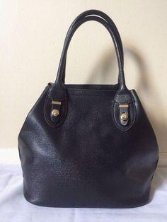 Fashion Women's Black Faux Leather Satchel Bag  | eBay