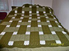 Ravelry: Woven Blocks Crochet Quilt pattern by C.L. Halvorson