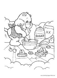 care bears coloring pages to print | Sweet Care Bear coloring page - Care Bear color page - Coloring pages ...