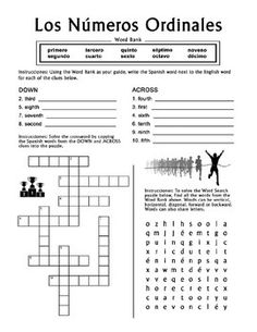 Los Numeros - Spanish Numbers 1-20 Word Search Puzzle Worksheet ...