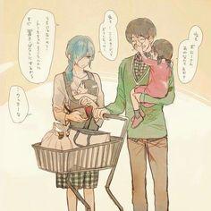 Kaneki x Touka Family ^^ Tokyo Ghoul, Elsword, Manga Love, I Love Anime, Manga Art, Anime Manga, Haise, Kaneki Y Touka, Seven Knight
