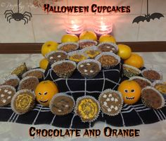 Chocolate and Orange Halloween Cupcakes