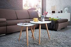 DuNord Design Beistelltisch 2er Set STOCKHOLM weiss