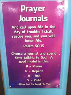 Prayer Journals Description