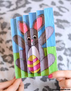 Easter Agamograph Template Craft for Kids