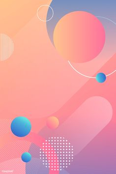 Colorful round modern background vector | premium image by rawpixel.com / 杜珮甄 Poster Background Design, Geometric Background, Background Patterns, Background Banner, Vector Background, Game Design, Web Design, Graphic Design Posters, Graphic Design Inspiration