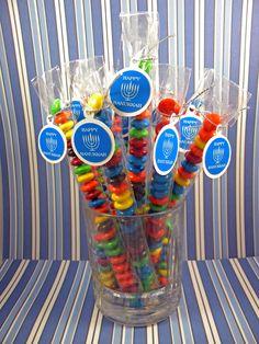 Hanukkah Menorah Candy Treat Bag Favors