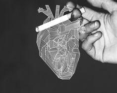heart & cigarrette