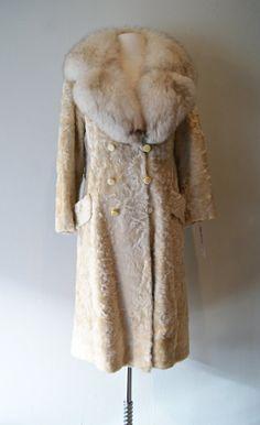 LEOPARD COAT 1960s Vintage Swing Faux Fur Leopard Print Coat ...