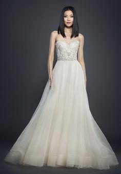 Lazaro 3706 Ball Gown Wedding Dress