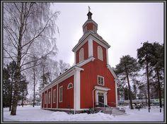 Old wooden church in Hyvinkää