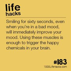 The post – Boost Your Mood By Smiling appeared first on 1000 Life Hacks. The post – Boost Your Mood By Smiling appeared first on 1000 Life Hacks. Simple Life Hacks, Useful Life Hacks, Best Life Hacks, Hack My Life, Daily Life Hacks, 1000 Lifehacks, Things To Know, Self Help, Good To Know