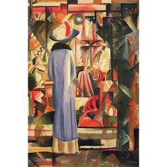 Buyenlarge 'Large Bright Showcase' by August Macke Painting Print
