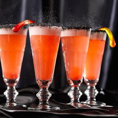 Orange Hocus Pocus Fizz - I think I would just use coconut rum instead of rum and extract...
