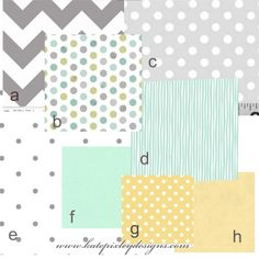 Grey and Green Neutral Baby Bedding Set by katepixleydesigns, $230.00