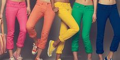colored jeans! love them.