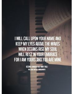 When Oceans Rise My Soul Will Rest in Your Embrace | Godly Quotes