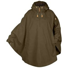 FEATURES of the Fjallraven Luhkka No. 3 Cape Knee-length, reversible cape Fixed adjustable hood Zippered, half-length front opening Large kangaroo pocket with an inside pocket for a mobile phone Zipper pullers and details in natural-toned leather Bushcraft, Look Fashion, Mens Fashion, Outdoor Outfit, Outdoor Gear, Survival Gear, Vest Jacket, Coats For Women, Ladies Coats