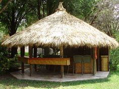 If you want to make your lawn or garden beautiful and awful with the gazebo design having thatched roof over the gazebo, then you should try one of them in your… Gazebo Roof, Backyard Gazebo, Cabana, Round Gazebo, Gazebo Wedding Decorations, Cob Building, Vero Beach Fl, Tropical Garden Design, Tiki Hut