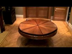 Expandable Round Dining Table expanding dining table. the ingenious robert jupe table mechanism