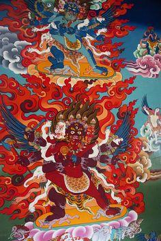 Monastery Artwork. Nepal Pilgrims, Honeymoons, Buddhist Art, Ancient Jewelry, Bhutan, Tibet, True Beauty, Asian Art, Japanese Art