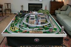 lionel train track table long - Google Search