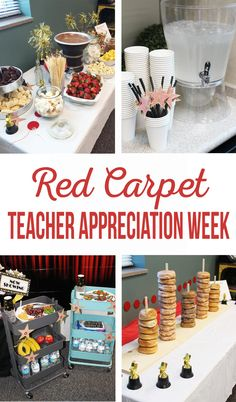 The best DIY projects & DIY ideas and tutorials: sewing, paper craft, DIY. Best Diy Crafts Ideas For Your Home Red Carpet Teacher Appreciation Week Teacher Appreciation Luncheon, Volunteer Appreciation, Customer Appreciation, Teacher Luncheon Ideas, Teacher Treats, Teacher Gifts, Teacher Stuff, Teacher Presents, Fitness Factory