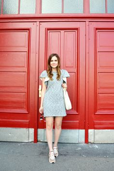 Jersey dress and ASH Hendrix Sneakers